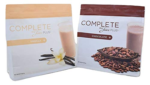 2 x Juice Plus Complete Shake (One Vanilla + One Chocolate Shake) 563g Each + Free Spoon
