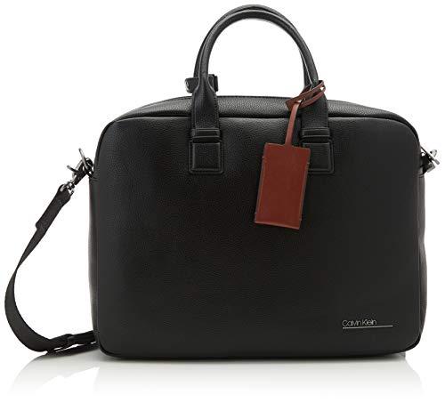Calvin Klein Heren Ck BOMBE Laptop Bag Laptop Tas Zwart (Blackwhite Black)