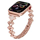 PUGO TOP Band Replacement for iwatch 38mm 40mm Series 6 SE 5 4 3 2 1 Iwatch Bracelet Band Cuff for Women
