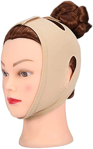 V Ceinture abnehmen Masque, Bandage Visage Menton V Ceinture, Slim Masque Facial Lifting Ming Mince Cou Munching (Size : S)