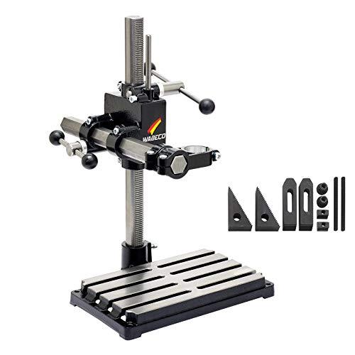 WABECO Bohrständer Fräsständer BF1240 mit Spannpratzen Satz 10-teilig vertikal/horizontal Säule 500 Ausleger 350 mm