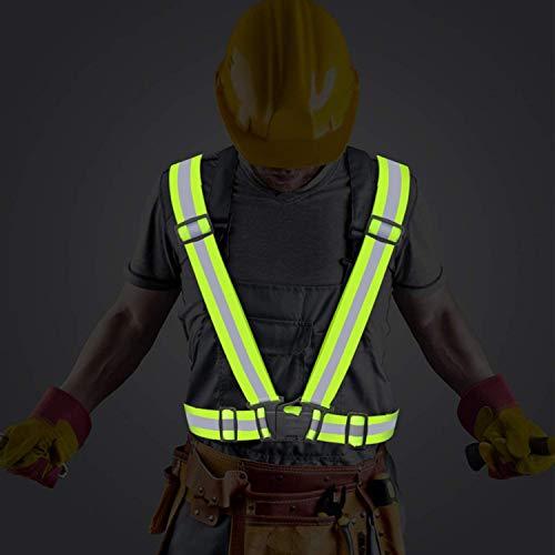 FXCIST Sicherheitsweste - Warnweste - Praktische größenverstellbare Reflektorweste für das Fahrrad, Auto und Motorrad - Warnweste zum Laufen und Joggen