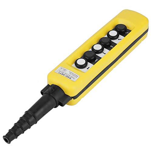 Interruptor de control colgante de grúa, práctico interruptor de subida y bajada, grúa profesional de 18,5 x 3 pulgadas para sistema de control de polipasto de repuesto