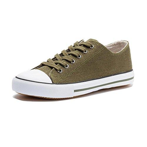 Grand Step Shoes Hanf Sneaker (40, Khaki)