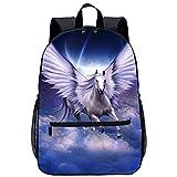 WBLWBL Teens Schultasche für Frauen Pegasus in the sky Rucksack 31*14*45cm Büchertasche für Schule, Reise, Arbeit Geschenk für Männer Freunde
