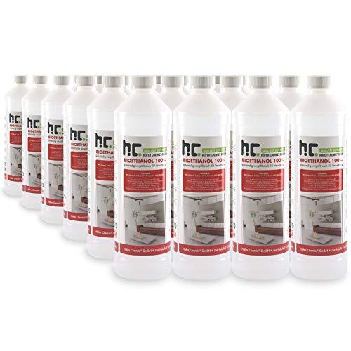 Höfer Chemie 24 L Bioethanol 99,9% Premium (24 x 1 L) für Ethanol Kamin, Ethanol Feuerstelle, Ethanol Tischfeuer und Bioethanol Kamin