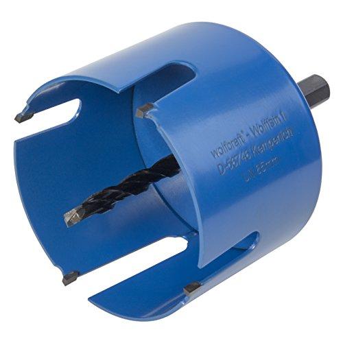 Wolfcraft 3885000 1 Universal-Lochsäge ø 85 mm, Plug und Play
