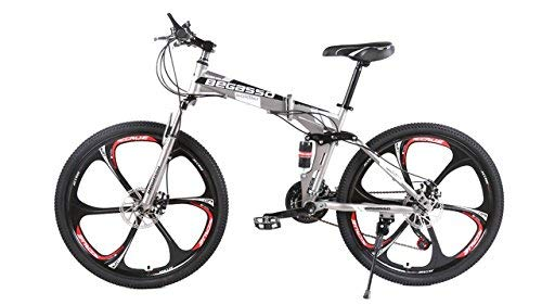 EGO TECHNOLOGY Bicicleta Plegable 26´ Doble Suspension Shimano Montaña Ciclismo