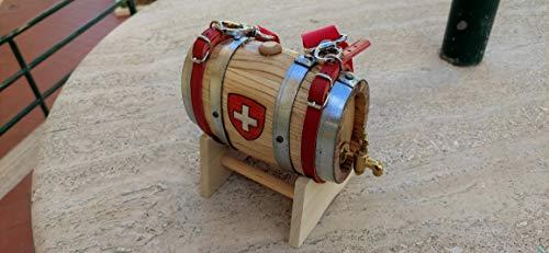Botte Botti San Bernardo 0,5 lt litro Croce Svizzera Rubinetto Ottone
