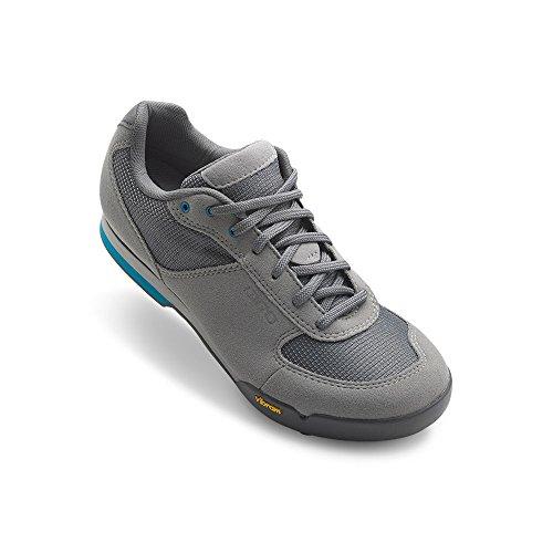 Giro Petra VR Womens Mountain Cycling Shoe − 38, Titanium/Blue Jewel (2020)