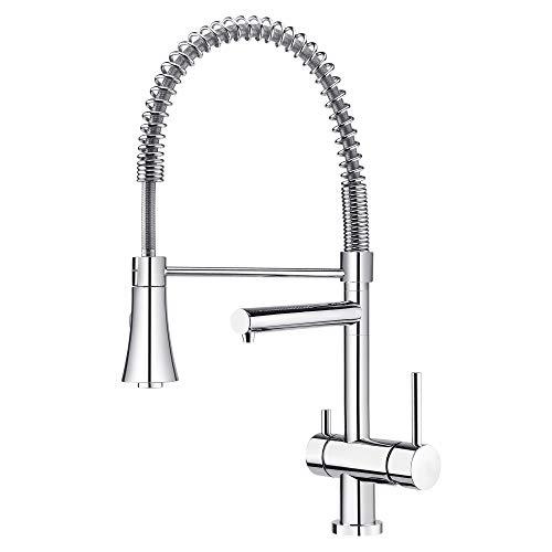 Grünblatt Grifo de cocina de 3 vías para agua potable filtrada (1 – con alcachofa)