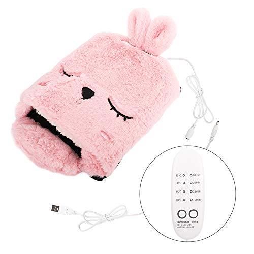 MoKo Alfombrilla de Ratón Invierno, Cojín Ratón de Calefacción por USB y Protector de Muñeca con Caja de Embalaje y Diseño Dibujos Animados para Gamers Ordenador, PC y Laptop - Rosa