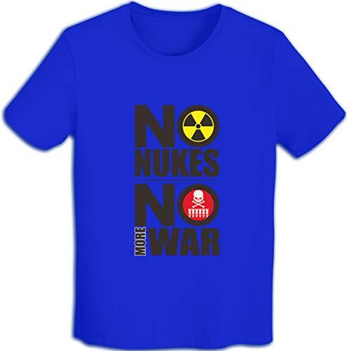 Dsb Tシャツ メンズ 半袖 反核 No Nukes 原爆 メンズシャツ シャツ メンズファッション Tシャツ メンズ 肌着 半袖 無地 カジュアル ファション おしゃれ 五分袖 夏 Blue Xl
