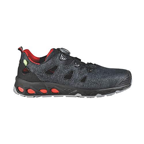 COFRA 73090-000.W44 Airflow - Sandalias de seguridad, ESD S1 P SRC, gris/negro/rojo, talla 44
