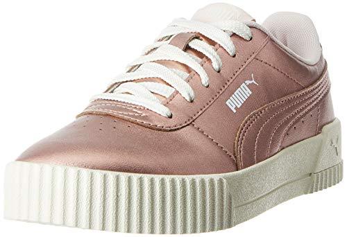 PUMA Damen Carina Metallic Sneaker, Beige Rose Gold Rose Gold, 35.5 EU