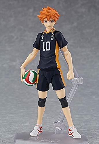 N / A Anime japonés Modelo Juguetes Haikyuu Figma Hinata Shoyo PVC Volleyb Figuras de acción
