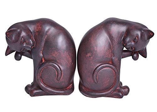 Buchstützen Katzen Art Deco Set 2 St. Tiere Figuren Palazzo Exklusiv CW050