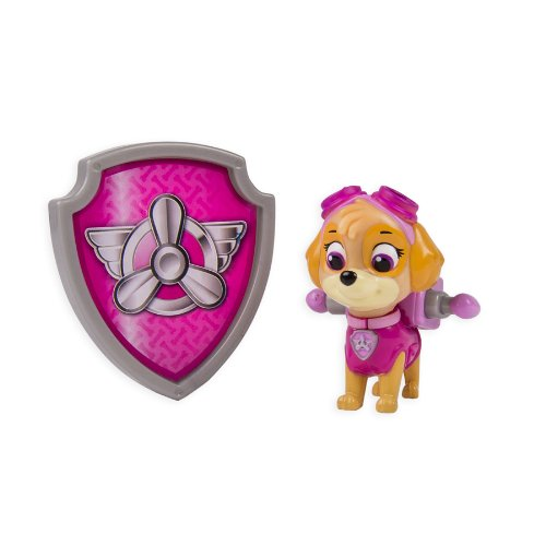 PAW PATROL – Action Pack – Stella – Figurine Sac à Dos et Badge