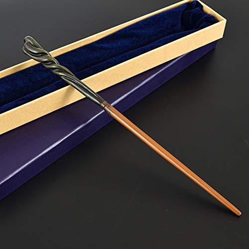 XGXQBS Metallkern Zauberstab, Cosplay Requisiten Harry Potter Zauberstab Neville Longbottom Zauberstab - Perfekt für Kostüme oder Dekoration,Purple Box,36cm