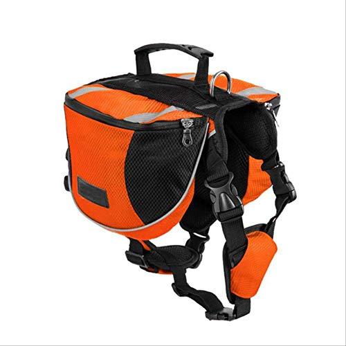 SHDS Pet Outdoor Backpack Large Dog Reflective Adjustable Saddle Bag Harness Carrier For Traveling Hiking Camping Safety S OB
