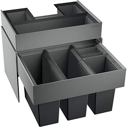 BLANCO 520783 Select 60/4 Orga Abfalleimer Abfallsystem, Metall, Kunststoff, Schwarz, 40 x 56, 8 x 36, 1 cm