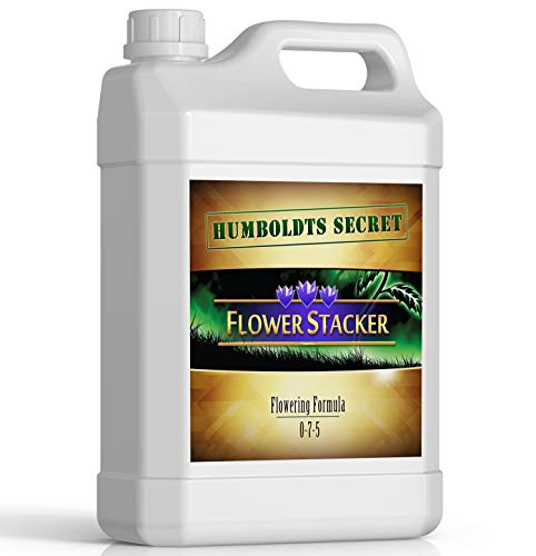 Humboldts Secret Flower Stacker – Flowering Plant Food – Nutrient System for Potting Soil for Indoor Plants & Outdoor Plants – Increase Flower Yield – Supports Flowering & Fruiting in Plants – 1 Quart