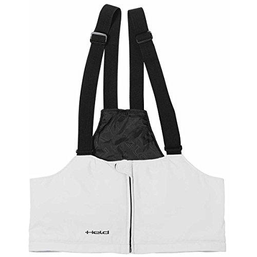 Held Latz für Textil/ - und Lederhosen, Farbe grau schwarz, Größe XL