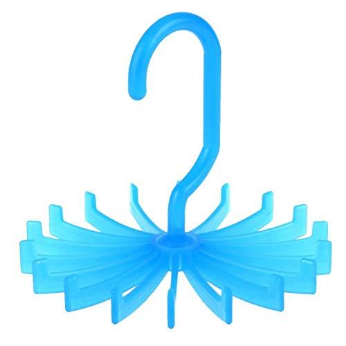 CHUITF Hot 1 stuk plastic draagbaar stropdas rek voor kasten roterende haak houder riem sjaal kleerhanger voor mannen vrouwen kleding organisator C
