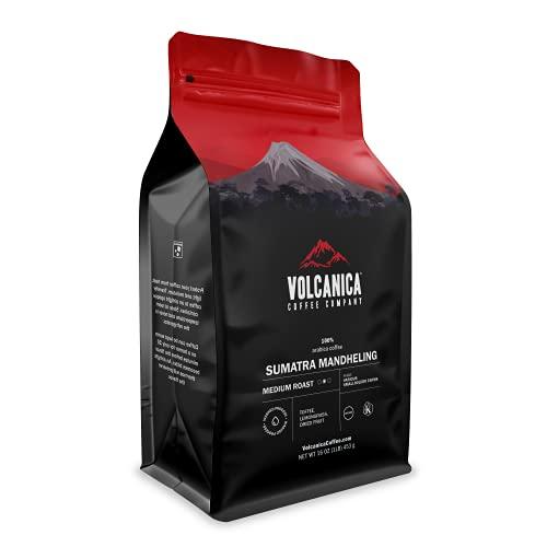 Sumatra Mandheling Coffee, Medium Roast, Whole Bean, Fresh Roasted, 16-ounce