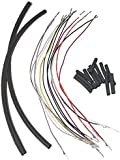 Extensiones de cables de manillar de 12 pulgadas para moto Harley Davidson todos los modelos de años 07-14 (excepto modelos Touring), 14 hilos 07-14 Sportster, 07-14 Dyna, 07-14 Softail