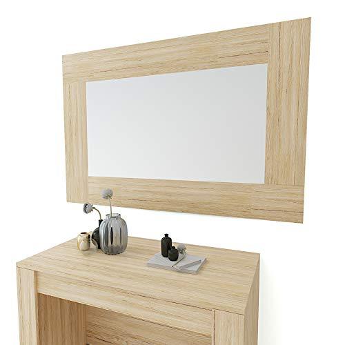 Specchio Rettangolare Da Parete Specchiera In Vetro Con Cornice In Legno Per Soggiorno Ingresso...