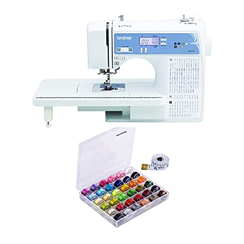 Brother XR9550 Sewing and Quilting Machine (White) Bundle with 36-Piece Bobbins...