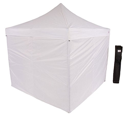 Impact Canopy 10' x 10' Pop-Up Canopy Tent, Straight-Leg Shelter with Steel Frame, Sidewalls, and Roller Bag, White