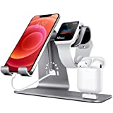 Bestand 3 in 1 Aluminium Phone Stand, Ladestation, Dock Kompatibel mit iPhone, Apple Watch, Airpods...