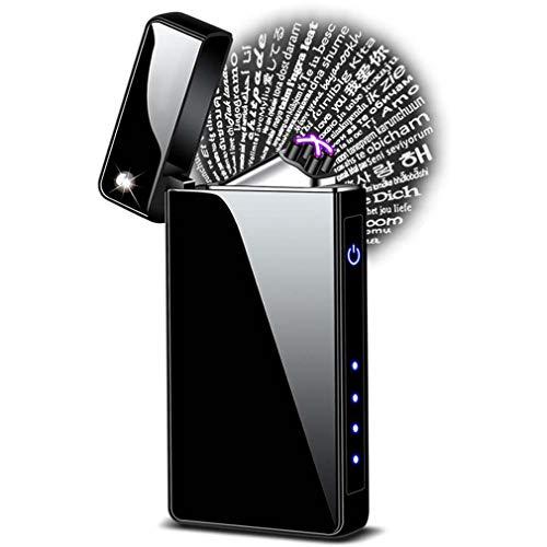 Mechero de plasma eléctrico de arco a prueba de viento recargable por USB, encendedor sin llama, encendedor de regalo para hombre y...