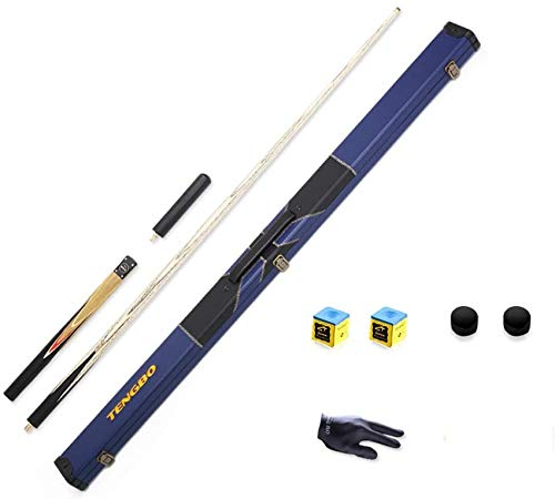 WEHOLY Pool Cues, 57 inch 9.5mm Tip Three-Section Rod Standard Adult British Snooker Billiard Bar Handmade with Cue Case/Extensions Pool Cue