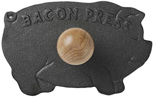 Nouveau Presse en fonte d'aluminium NORPRO, avec poignée en bois, pour bacon, paninis, Forme de Cochon
