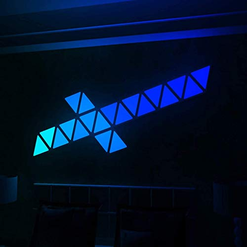 6pcs RGB Triangle Wall Light Splicing, Smart LED Wall Night Light, DIY Touch-Sensitive Geometric Modular Colorful Lamp with USB-Power for Bedroom, Living Room Decoration Best Gift