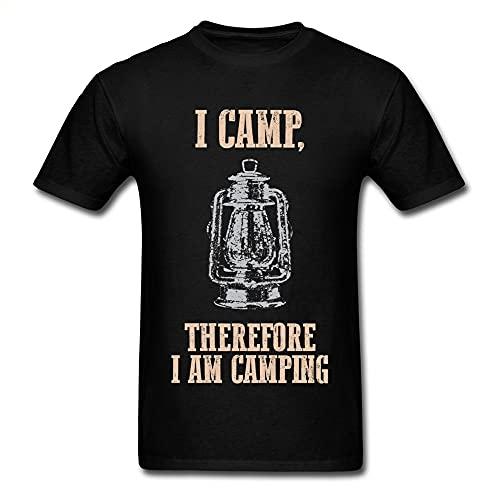 XS T Shirt Men Vintage Kerosene Lamp Print T-Shirt Black Tshirt Summer Clothes Street Top Hip Hop Tees Cotton Fitted Men Black L