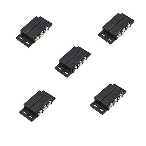 SpzcdZa 5Sets Magnetic Reed Switch Normally Open Closed NC NO Door Alarm Window Security/Magnetic Door Switch/Magnetic Contact Switch/Reed Switch for GPS,Alarm or Other Device,DC 5V 12V 24V Light