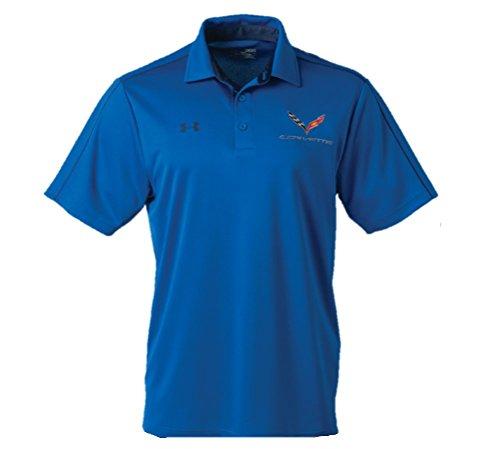 C7 Corvette Men's Tech Polo Shirt (Large, Royal)