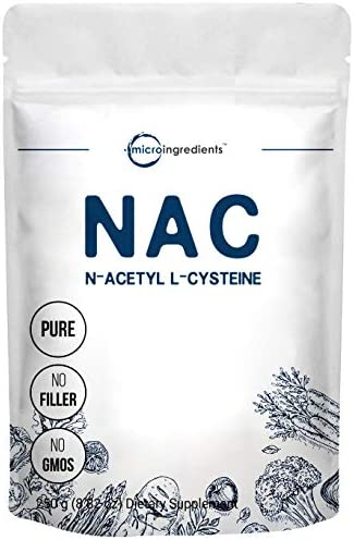 Micro Ingredients Pure NAC Powder N Acetyl L Cysteine Powder 250 Gram Supports Liver and Lung product image