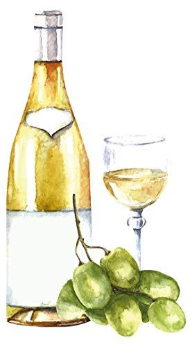 dekodino® Wandtattoo Weinflasche, Weinglas und Oliven Wandsticker