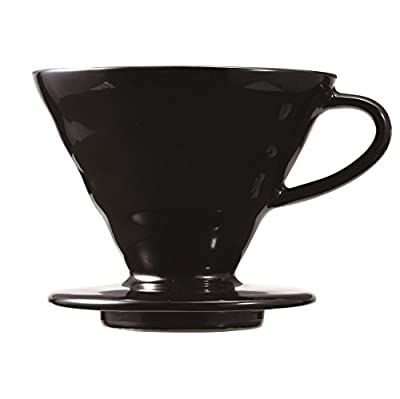 Hario KDC-02-B Coffee Dropper, Ceramic, Black, Size 2