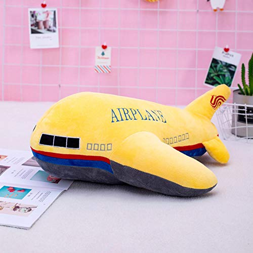 Pluche Kinderspeelgoed Vliegtuig Pop Kussen Knuffel-Geel _60cm