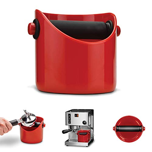 Dreamfarm Grindenstein Abklopfbehälter für Kaffeesatz Fire Truck feuerrot