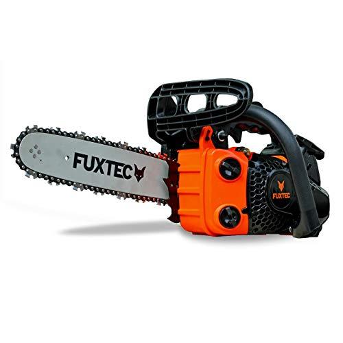 Fuxtec Benzin Baumpflegesäge Kettensäge FX-KS126 Schwertlänge 30 cm (12 Zoll), Schnittlänge 26 cm, 21 m/s Schnittgeschwindigkeit, automatische Kettenschmierung, inkl. Schwertschutz