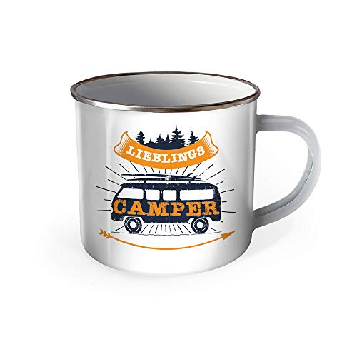 Trötsch Emaille Becher Camping Tasse Lieblings Camper