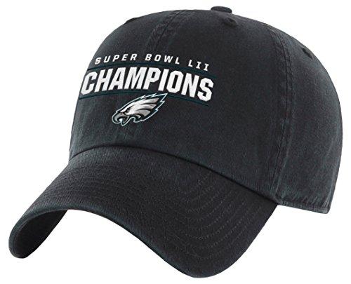 OTS NFL Herren Philadelphia Eagles Super Bowl 52 Champions Challenger Verstellbare Mütze, Einheitsgröße, Schwarz