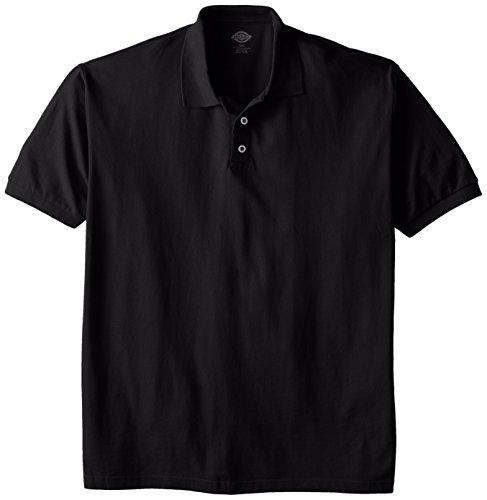 Dickies Herren Poloshirt, kurzärmelig, Piqué-Stil - Schwarz - 3X-Groß